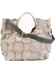 Jamin Puech Large 'Rica' Tote Bag Grey