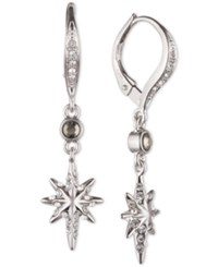 Judith Jack Sterling Silver Marcasite And Crystal Star Drop Earrings