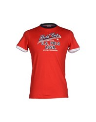 U.S. Polo Assn. U.S.Polo Assn. Topwear T Shirts Men Red