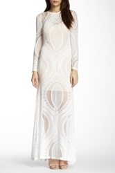 Gracia Long Sleeve Lace Maxi Dress White