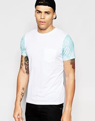 Another Influence Aztec Sleeve T Shirt White