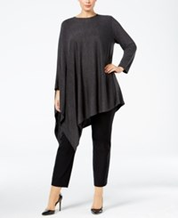 Alfani Plus Size Poncho Top Only At Macy's Coal Melange