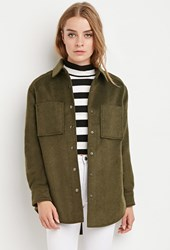 Forever 21 Boxy Quilted Overcoat