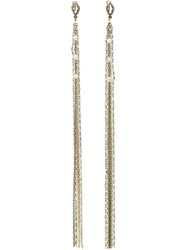 Loree Rodkin Diamond Tassel Chain Earrings Metallic