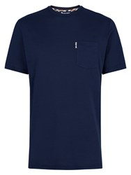 Aquascutum London Brady Cotton T Shirt Navy