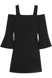 Tibi Cutout Faille Mini Dress Black