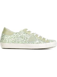 Philippe Model Glitter Low Top Sneakers Green