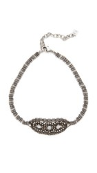 Dannijo Halo Necklace Ox Silver Clear