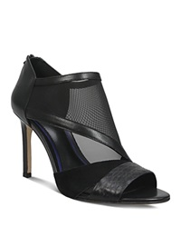 Elie Tahari Open Toe High Heel Sandals Isidro High Heel Black