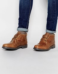 Firetrap Leather Lace Up Desert Boots Tan