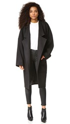 Oak Dropped Lapel Coat Black