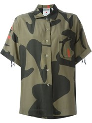 Moschino Vintage Camouflage Print Shirt Green