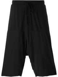 Lost And Found Drop Crotch Shorts Black