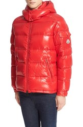 Moncler Men's 'Maya' Lacquered Down Jacket Hotline Bling Red