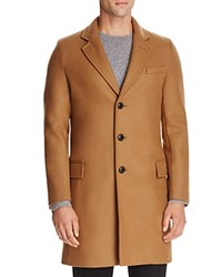 Gloverall Chesterfield Wool Cashmere Blend Coat Camel