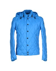 313 Tre Uno Tre Coats And Jackets Down Jackets Men Azure