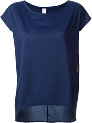 Sa Popa Cap Sleeve T Shirt Blue