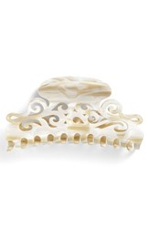 France Luxe 'Large Elysee' Jaw Clip Ivory Alba