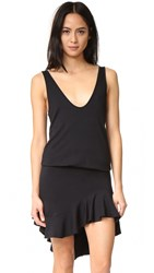 Riller And Fount Skye Dress Black French Terry