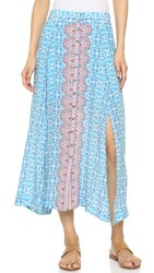 Nanette Lepore Street Fair Skirt Light Blue Multi