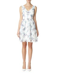 Erin Fetherston Floral Print Check A Line Dress
