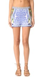 Camilla Waisted Shorts With Side Overlay My Majorelle