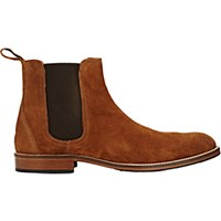 Barneys New York Men's Suede Chelsea Boots Brown