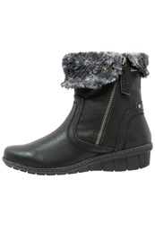 Hush Puppies Ingrid Wedge Boots Noir Black