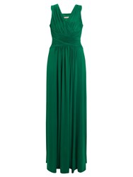 John Lewis Frances Jersey Maxi Dress Emerald Green