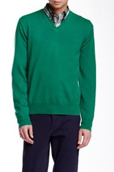 Gant Pure Cashmere V Neck Sweater Green