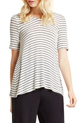 Women's Bcbgeneration Stripe Tee Whisper White Combo