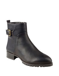 Nine West Lenore Leather Ankle Length Booties Brown