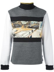 Opening Ceremony Syd Mead 'Jet Fighter' Sweatshirt Grey