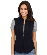 G Star Midge Dumont Slim Shirt In Lightweight Slander Superstretch Medium Aged Women's Vest Blue