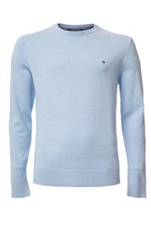 Tommy Hilfiger Men's Pima Cotton Cashmere Jumper Light Blue