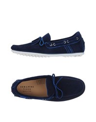 Serafini Times Footwear Moccasins Men Dark Blue