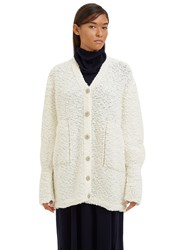Boboutic Oversized Crust 3 Knit Cardigan Cream