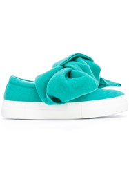 Joshua Sanders Oversized Bow Sneakers Blue