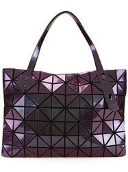 Issey Miyake Bao Bao Geometric Pattern Medium Tote Pink Purple
