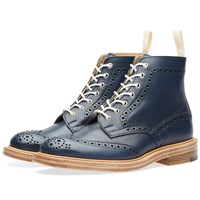 Trickers End. X Tricker's Stow Brogue Boot Blue