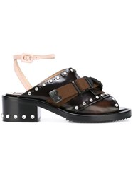 N 21 No21 Studded Buckle Sandals Brown