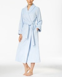 Charter Club Super Soft Textured Long Robe Only At Macy's Light Blue