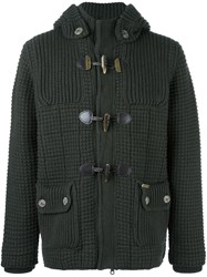 Bark Quilted Short Duffle Coat Green