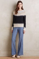 Anthropologie Level 99 Chambray Wide Legs Tinted Denim 24 Pants