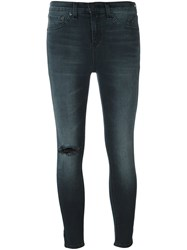 Rag And Bone Cropped Skinny Jeans Grey