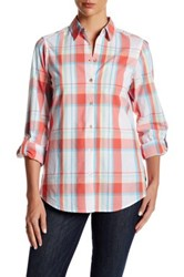 Foxcroft Roll Tab Plaid Shirt Multi