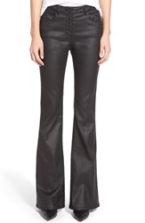 Women's 3X1 Nyc Coated High Rise Bell Bottom Jeans Jet Black Coated