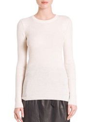 Set Wool Rib Knit Pullover Off White