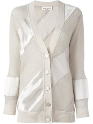 Sonia Rykiel Panelled Cardigan Nude And Neutrals
