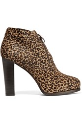 Bruno Magli Agna Leopard Print Calf Hair Ankle Boots Animal Print